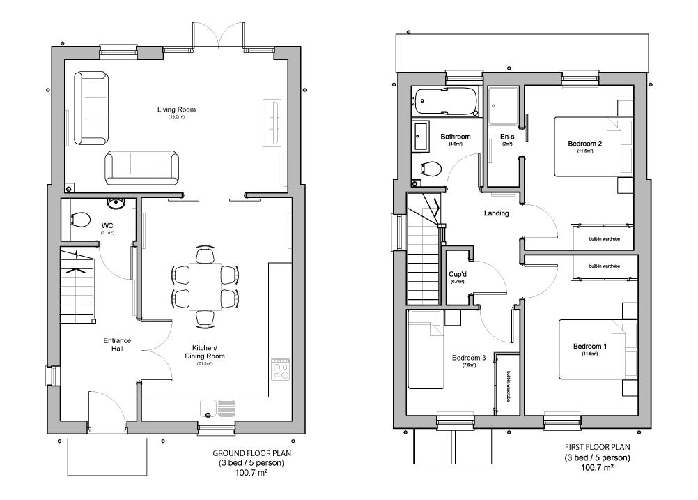 Floor Plan - plot 1 & 6