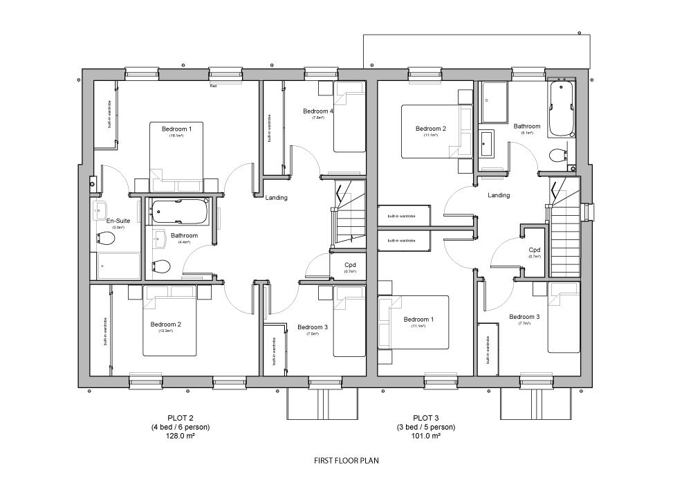 First Floor - Plot 2 & 3