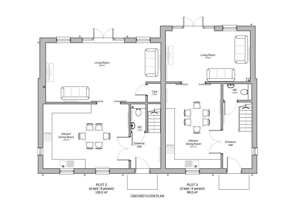 Ground Floor - Plot 2 & 3